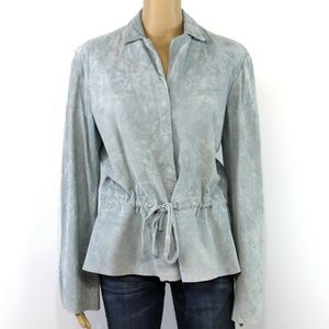 Clifford & Wills Women's Jacket Coat Gray Leather